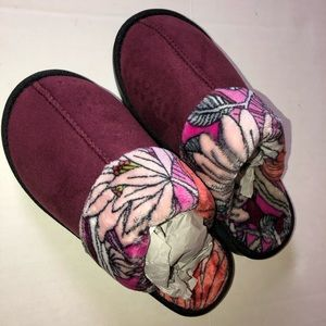 Vera Bradley slippers NWT bohemian blooms Small
